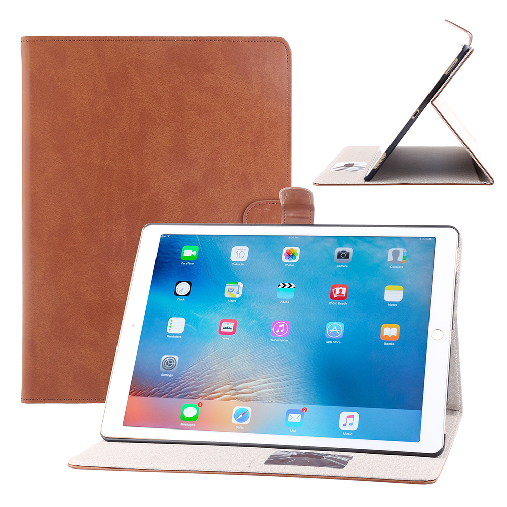 luxury leather folio stand wallet smart cover case for apple ipad pro 12 9 ebay. Black Bedroom Furniture Sets. Home Design Ideas