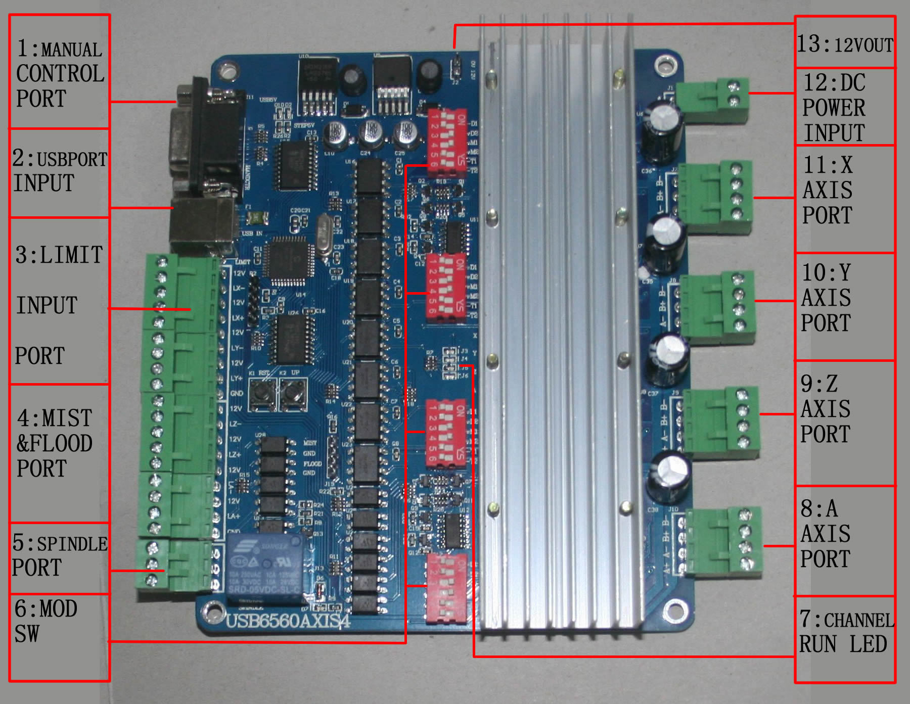4 axis usb tb6560 2 phase stepper motor driver board for Tb6560 stepper motor driver manual
