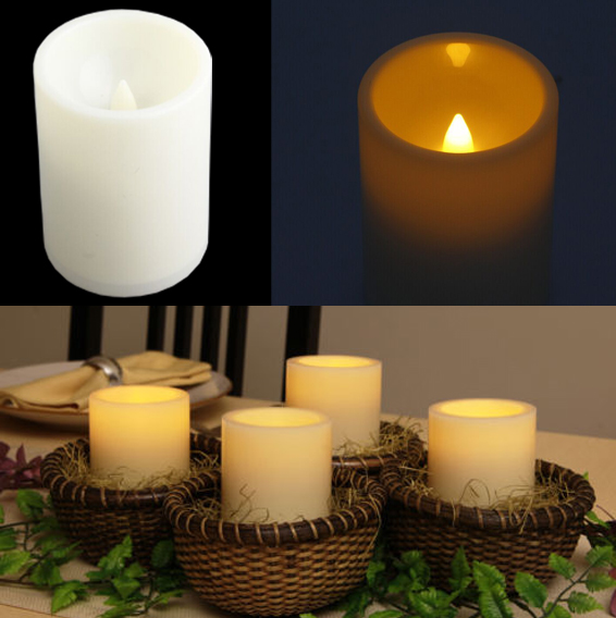 operated flameless electric candle tea light wedding bedroom decor