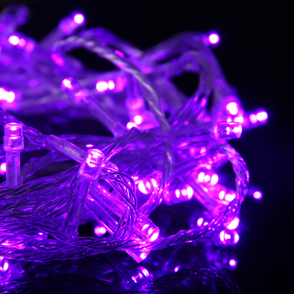 10x Purple 10M 100 LED String Fairy Lights Lamp for Christmas Tree Party Wedding eBay