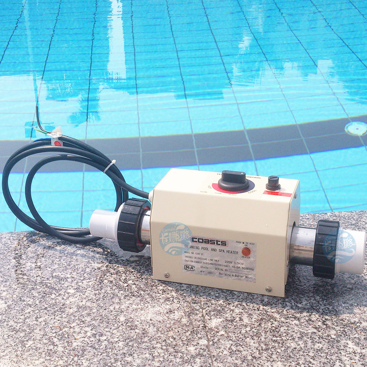 Newest 220v 3kw Swimming Pool And Spa Hot Tub Heater Electric Heating Thermostat Ebay