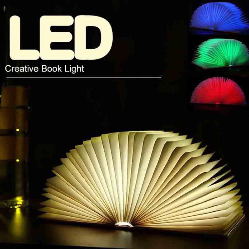 New Lumio Style Led Folding Book Lamp 4 Colors Light Home