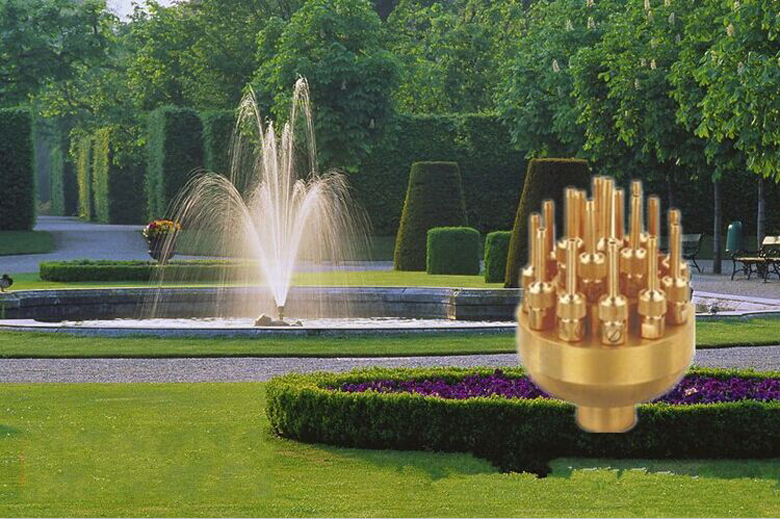 New 1 5inch 3 Layers Fountain Nozzle 19 Sprinklers Spray