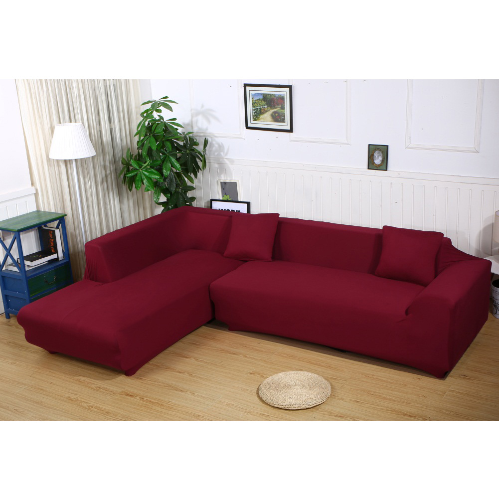 Sectional Sofa Covers L Shape 2pcs 2 3seat Polyester