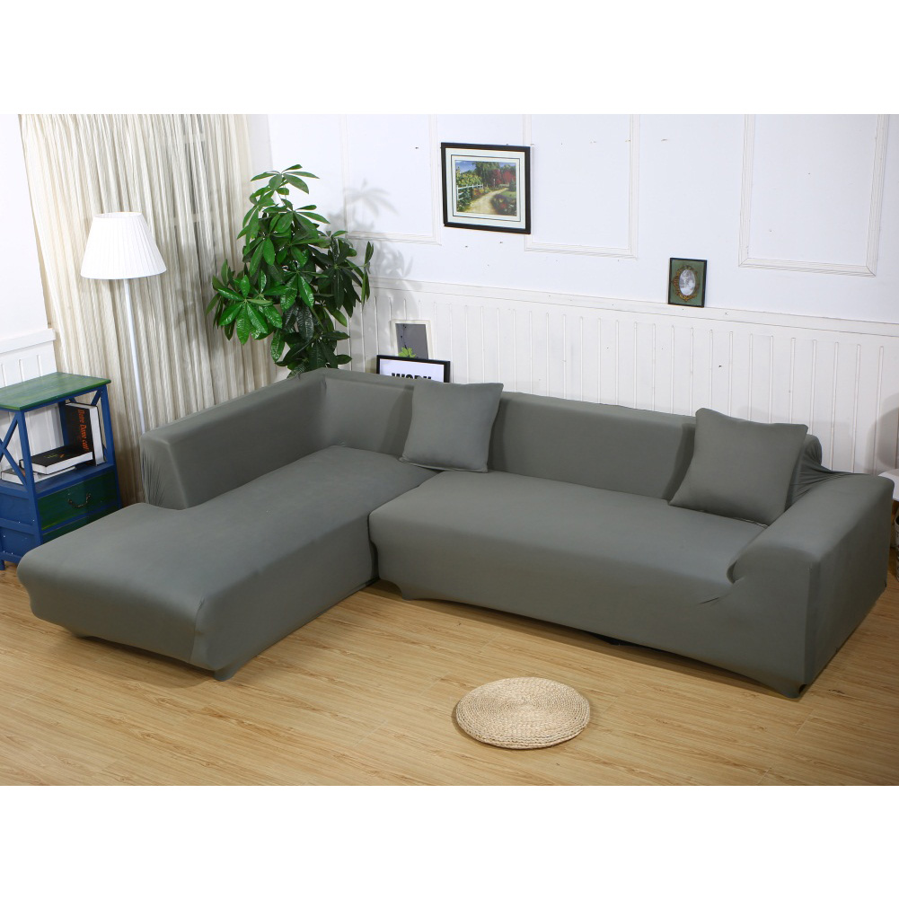 Slipcover Sectional: Stretch Fabric Sofa Slipcover Elastic Sectional Furniture